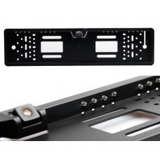 Камера заднего вида в рамке номера HD LED (черная)