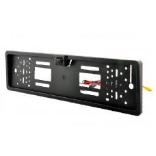 Камера заднего вида в рамке номера ИК Night Vision (черная)