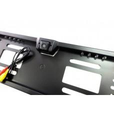 Камера заднего вида в рамке номера LED (черная)